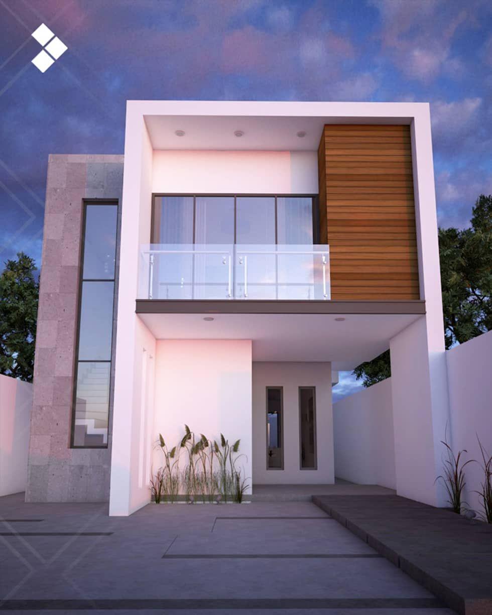 Fachada interior casas de estilo por cdr constructora for Fachadas de casas de 2 pisos pequenas