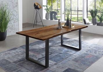 SAM® Esstisch Baumkante Akazie Nussbaum 140 x 80 cm