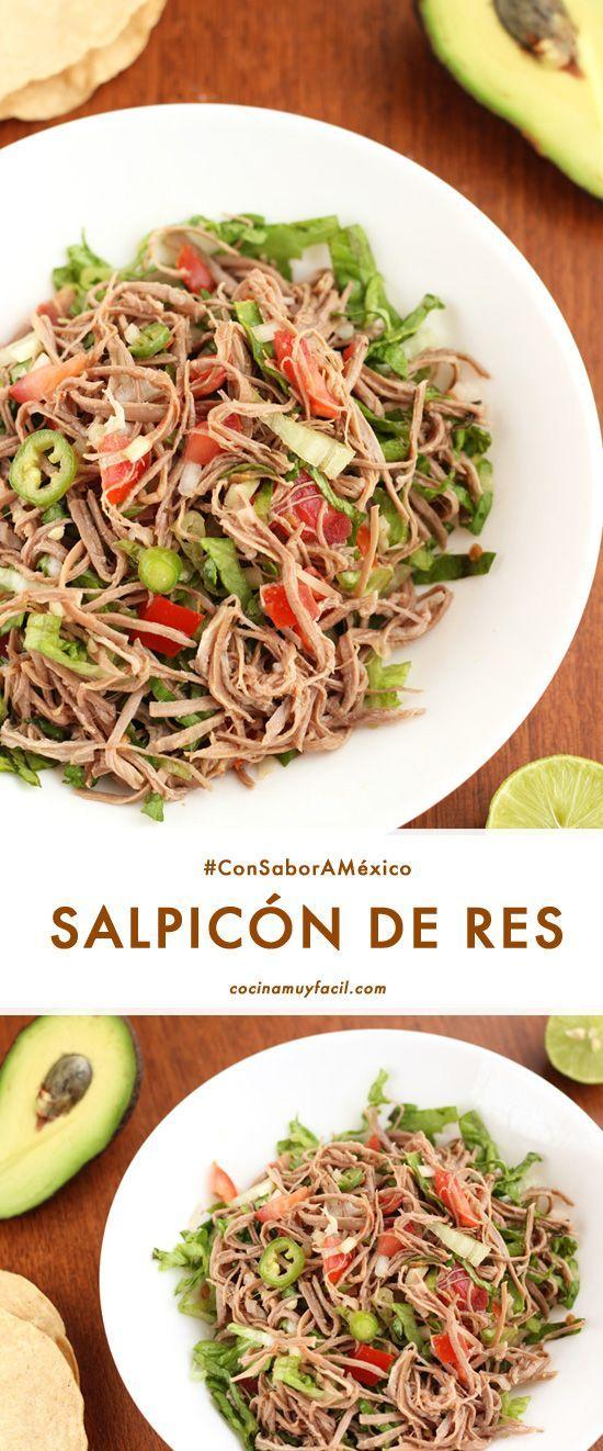 Receta Cocina | Salpicon De Res Receta Receta Recetas De Cocina Mexicana