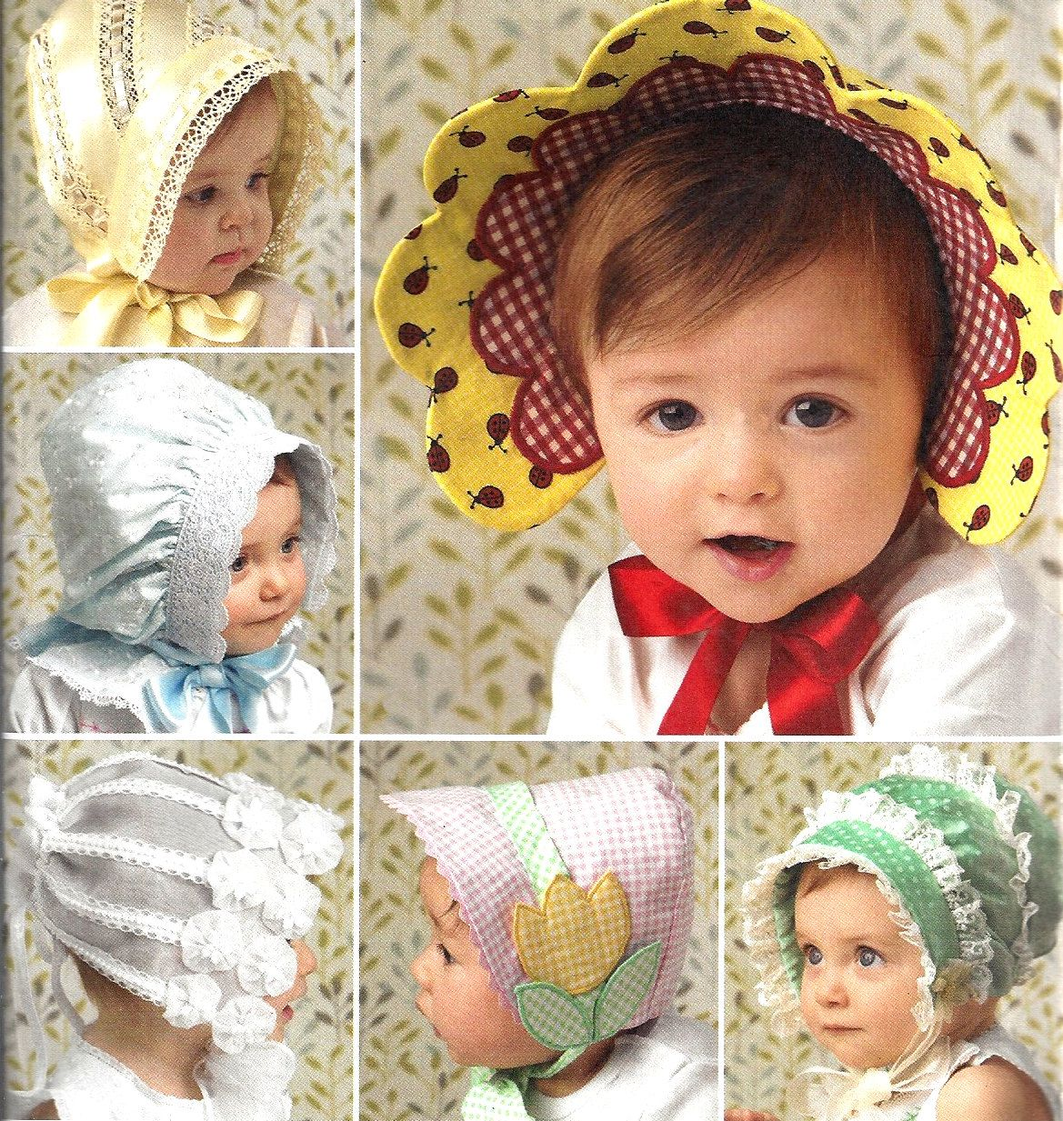 5aa2200feac Baby Bonnet Pattern 2008 Child s Hat Pattern Sewing Simplicity Children s  Uncut Babies Toddler s Size XS - L by SelmaLee on Etsy
