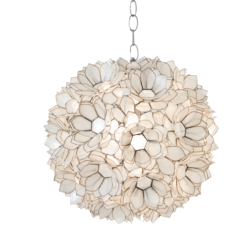 Venus pendant lighting pinterest lights chandeliers and information worlds away venus capiz shell floral pendant features elegance and glamour mark the worlds away venus capiz shell turquoise yellow or off aloadofball Images