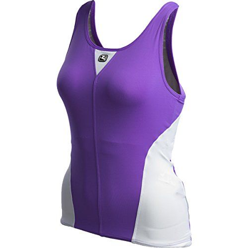 ca86b64b27d47 Giordana Silverline Tank Top with 360 Shelf Bra Womens Caractere  PurpleWhite XL     Check this awesome product by going to the link at the  image.