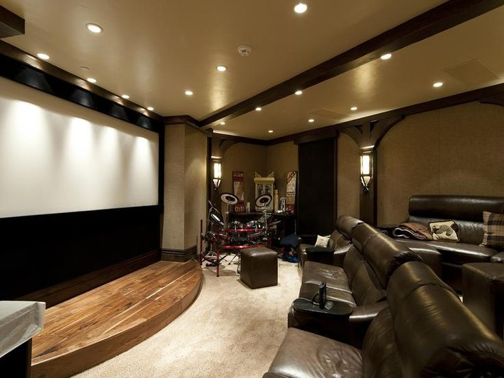 Love The Curved Stage! Combination Home Theater, Karaoke Stage, And Live  Band Music Venue.
