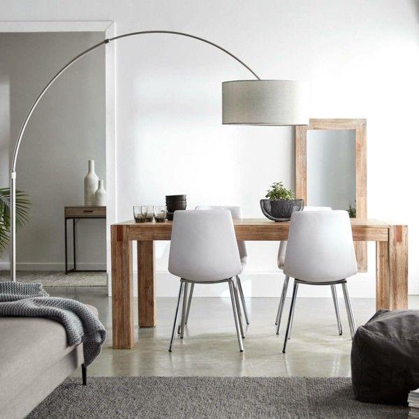 Kleines Wohnzimmer Mit Esstisch Und Bogenlampe