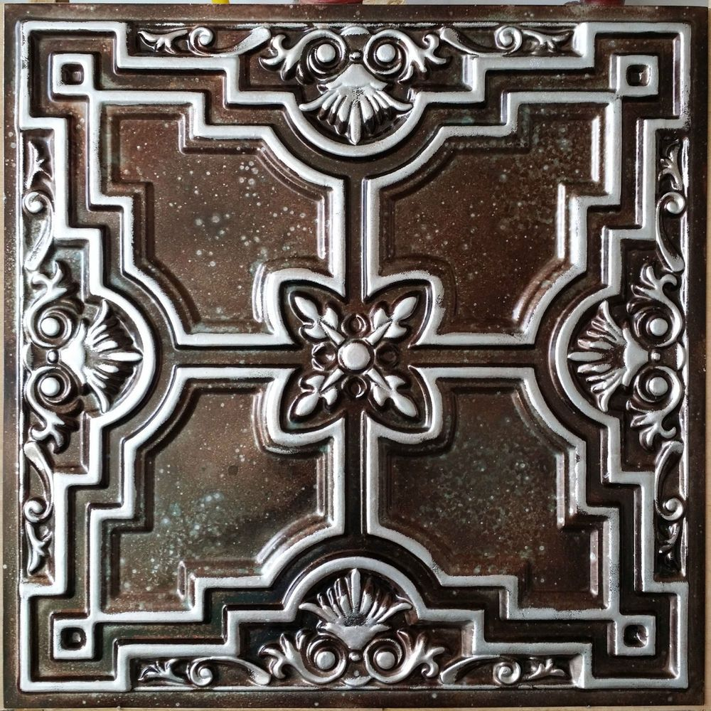 tin common silver surface actual x tile mount fasade shop ceiling pd in faux crosshatch tiles