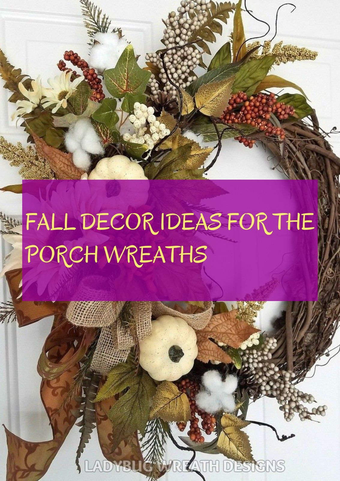 fall decor ideas for the porch wreaths
