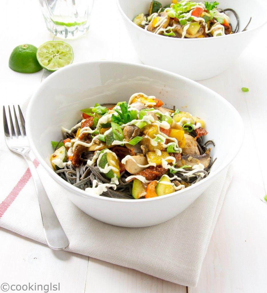 Black Bean Spaghetti Recipe -GLUTEN FREE #blackbean #spaghetti #healthy #gf #glutenfree