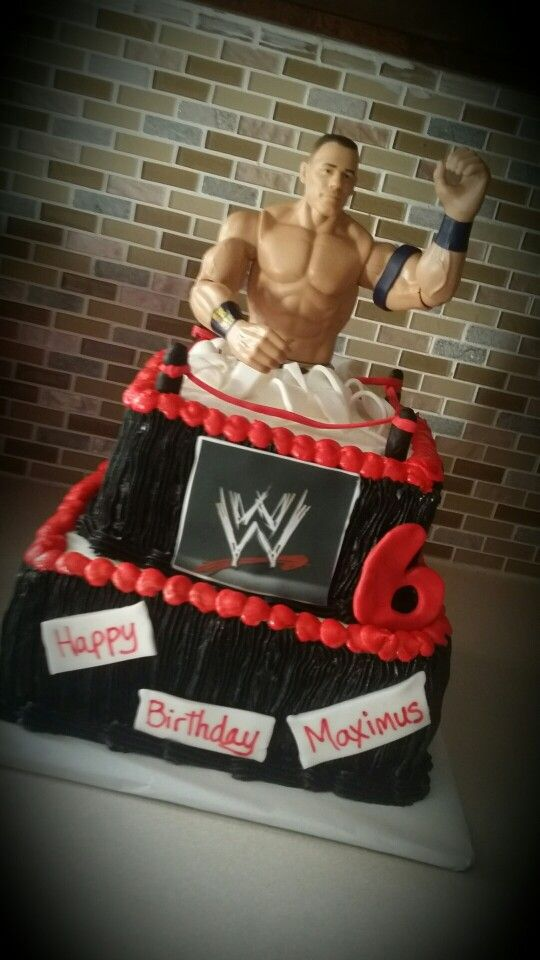Fine John Cena Cake Wwe Birthday Party Wrestling Birthday Cakes Personalised Birthday Cards Beptaeletsinfo