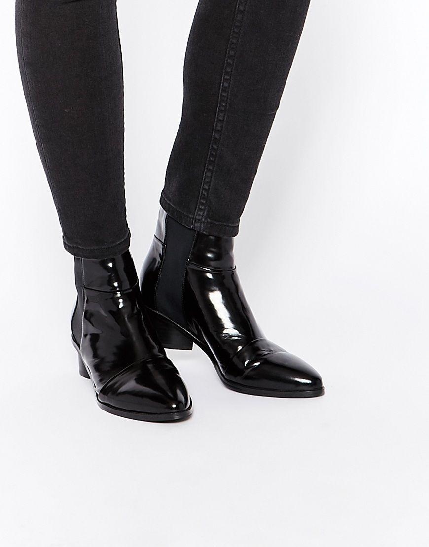 b3c9730f2c130b Senso Karina Black Leather Ankle Boots