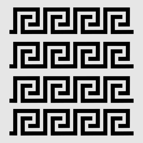 Greek Key Stencil Border Stencils New Template Background Pattern Sbook Templates Paint Craft 8 X 10