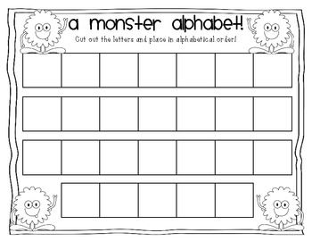 A Monster Alphabet Letter Cut And Paste Activity  Halloween For