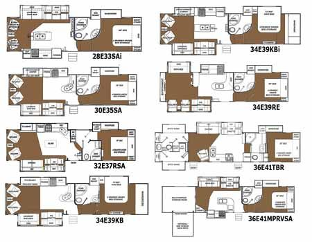 Glendale Titanium Fifth Wheel Floorplans   Small Picture, Click For A  Bigger Picture