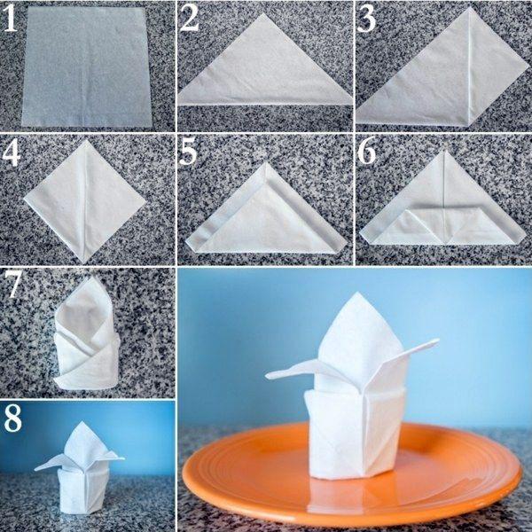 Paper Napkin Folding Instructions Create Festive Tischedeko Fancy Napkin Folding Paper Napkin Folding Napkin Folding