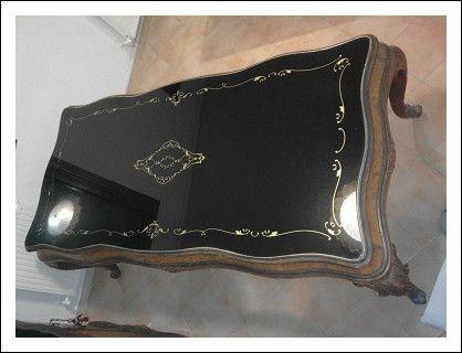 Tavolo vetrina ~ Coppia di credenze tavolo vetrina antiques
