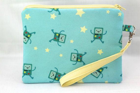 Adventure Time BMO Wristlet Bag Medium Size by RedShirtCreations, $16.95 #AdventureTime