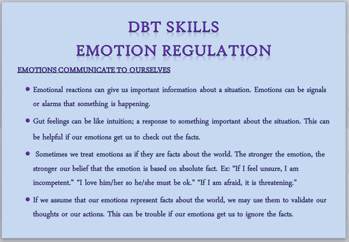 emotion regulation | DBT: Dialectical Behavioral Therapy | Pinterest ...