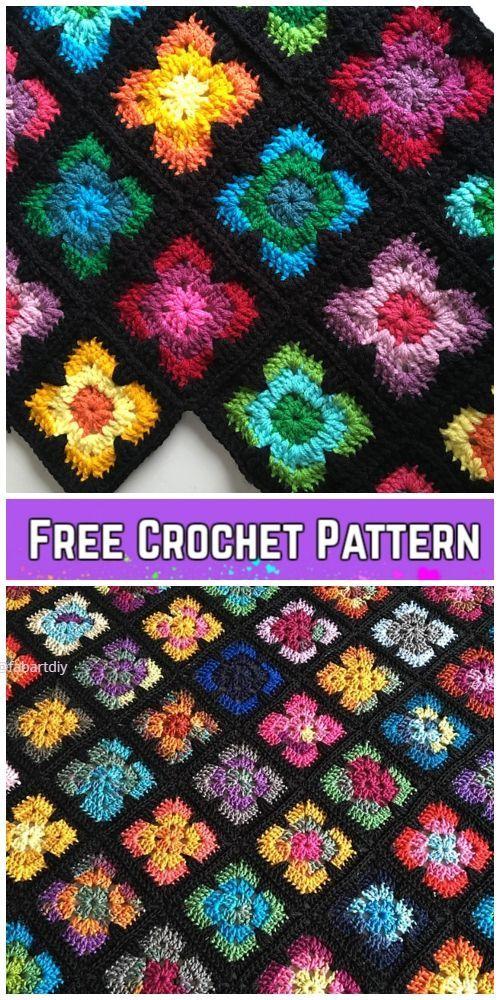 Photo of Crochet Retro Vibe Square Kostenlose Häkelanleitung
