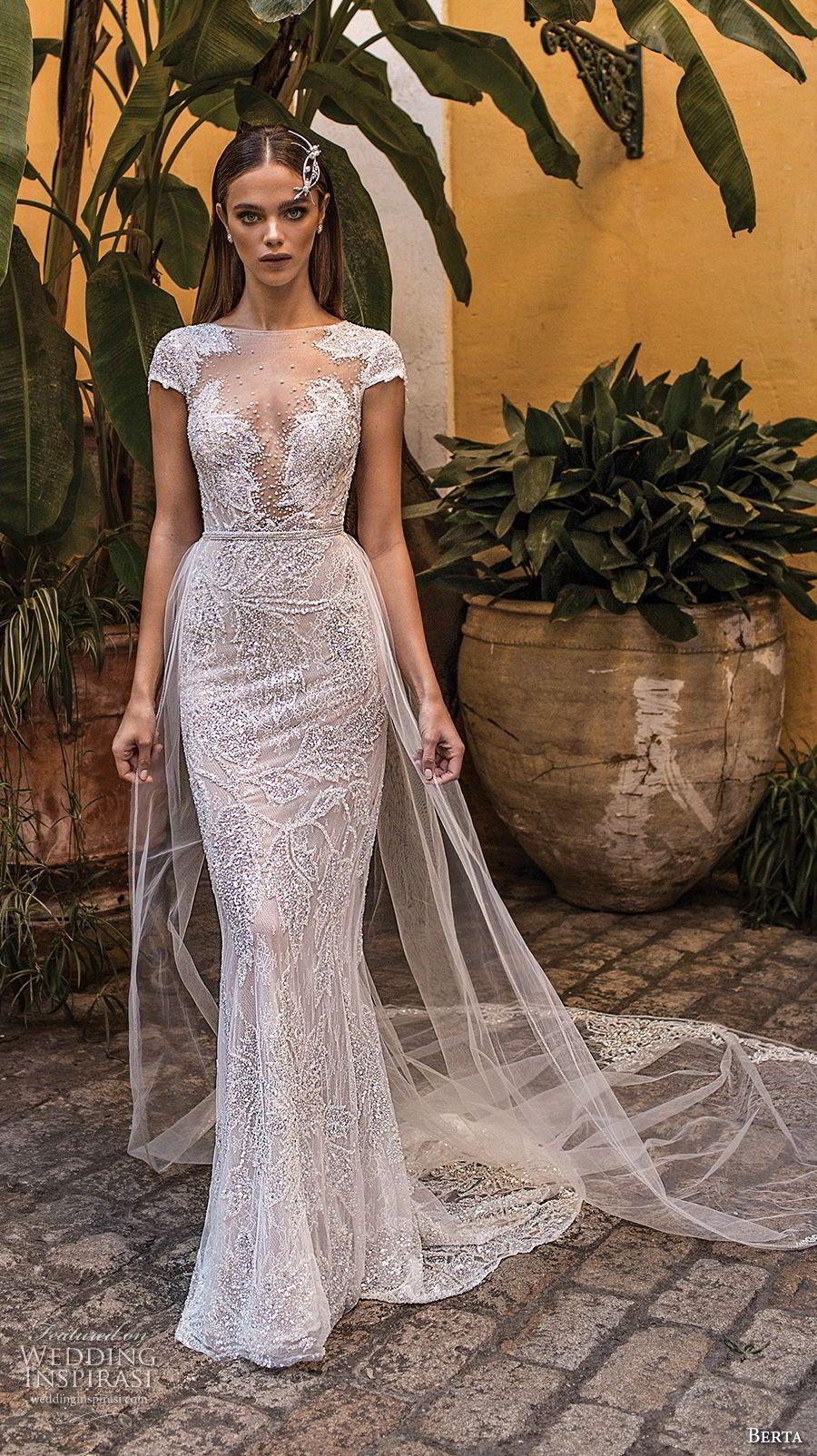 Berta fall wedding dresses illusions neckline and wedding dress