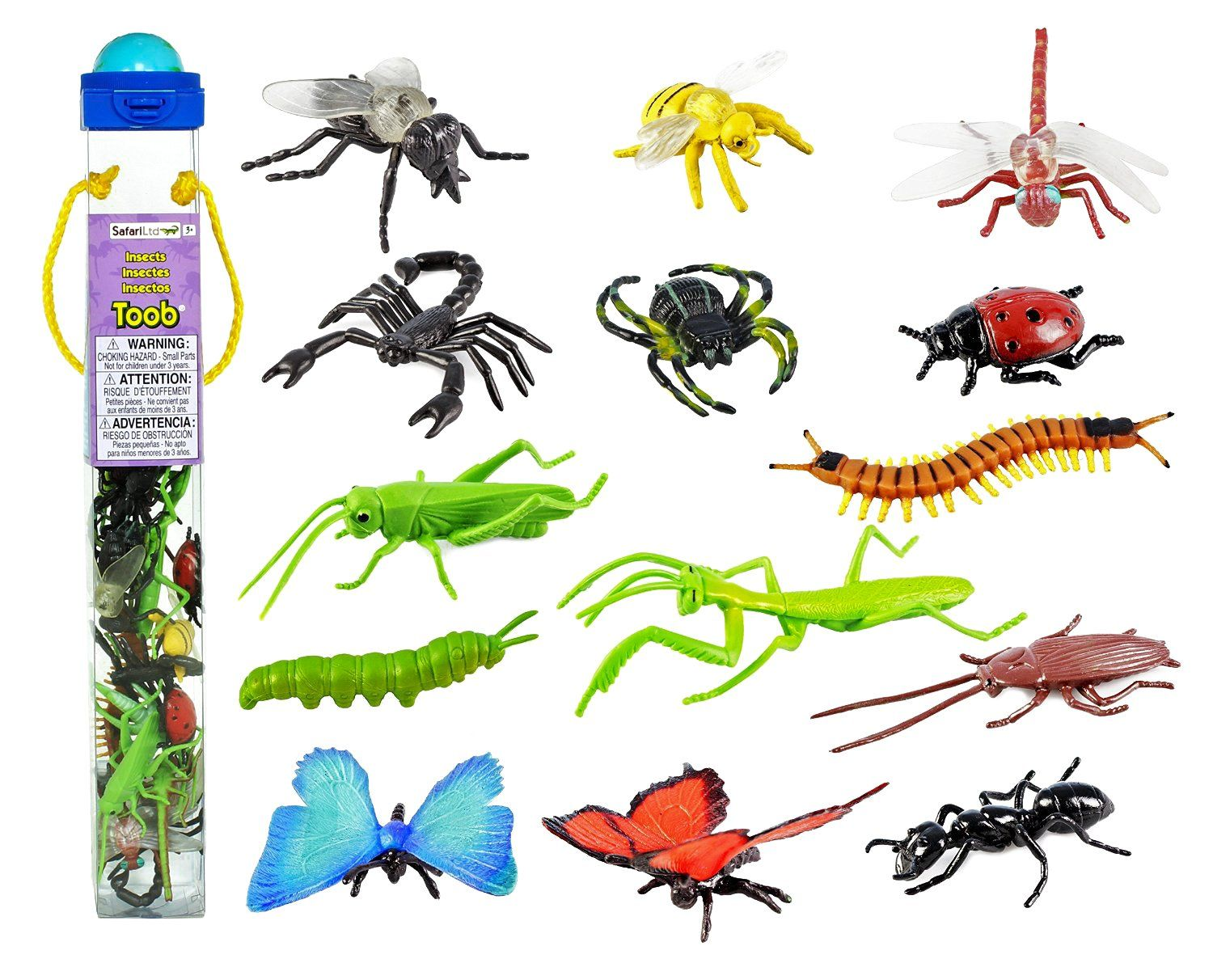 Safari Ltd Insects Toob With 14 Toy Figurines Including A