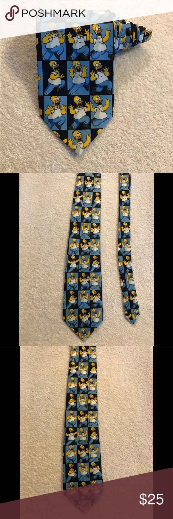 The Simpsons Homer Simpson Novelty Tie Necktie Excellent