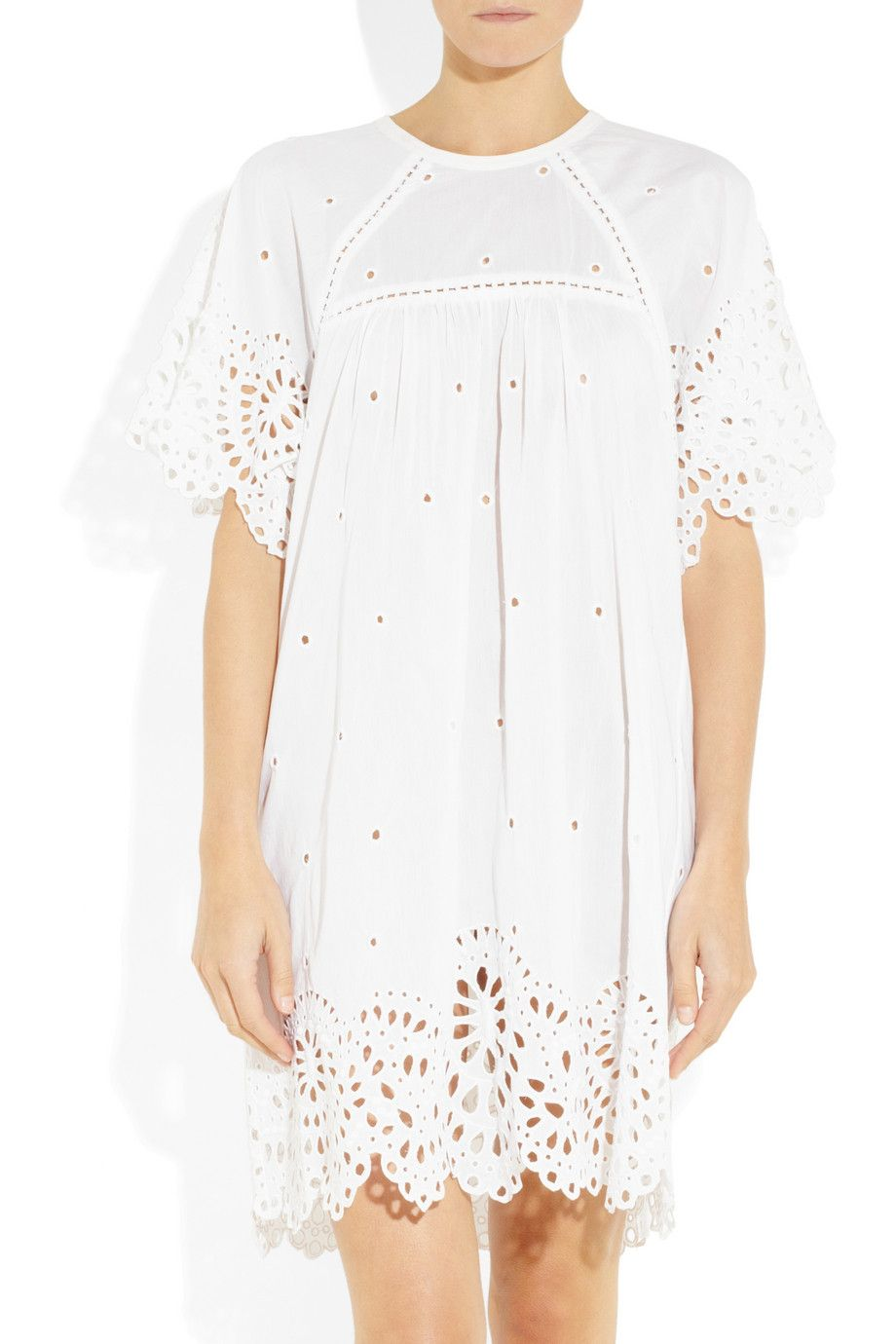 Fabuleux Isabel Marant | Dune broderie anglaise cotton-blend dress | NET-A  KV08