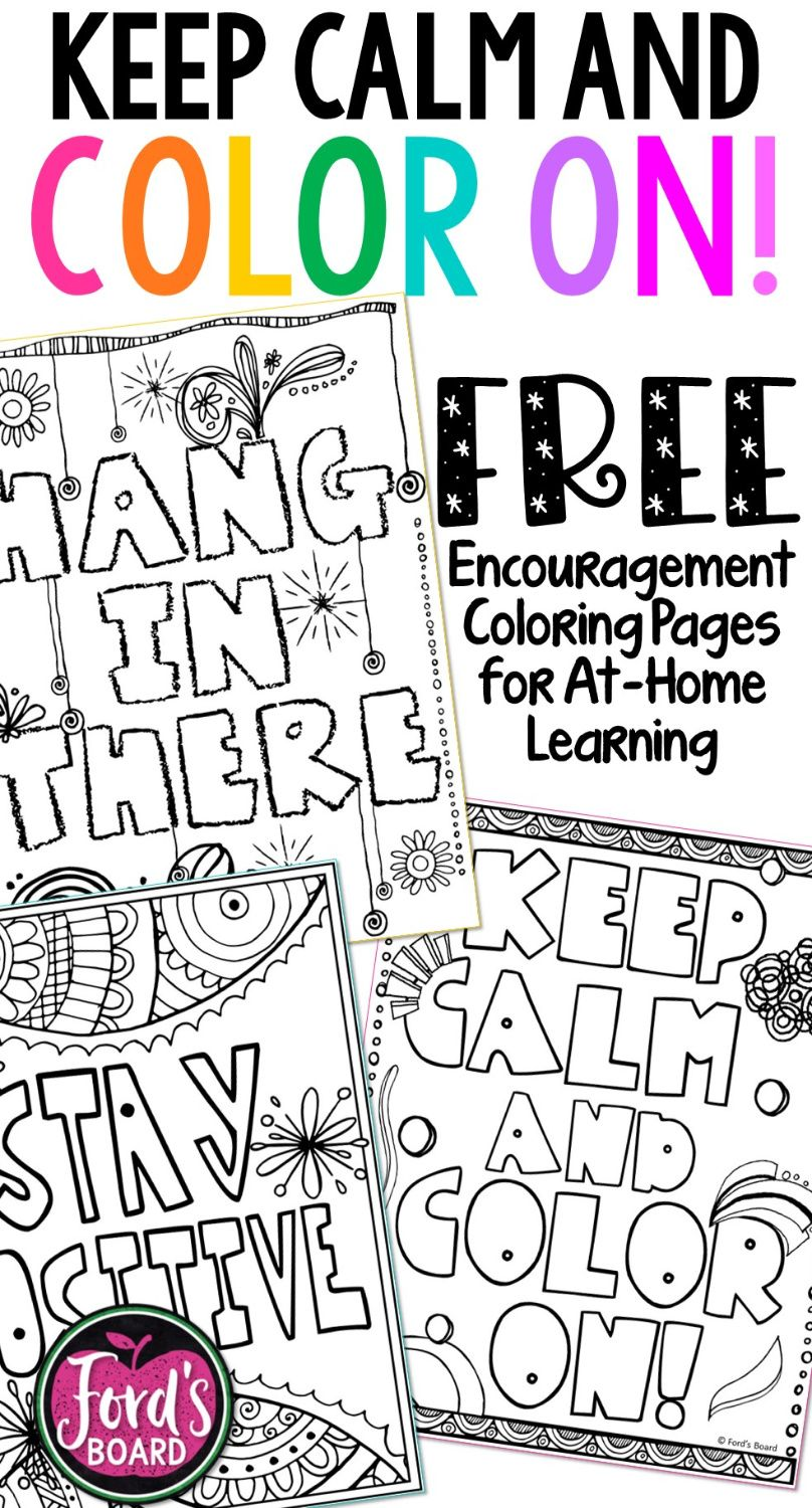 At-Home Learning Coloring Pages for Students in 2020 | Learning colors,  Distance learning, 6th grade science projects