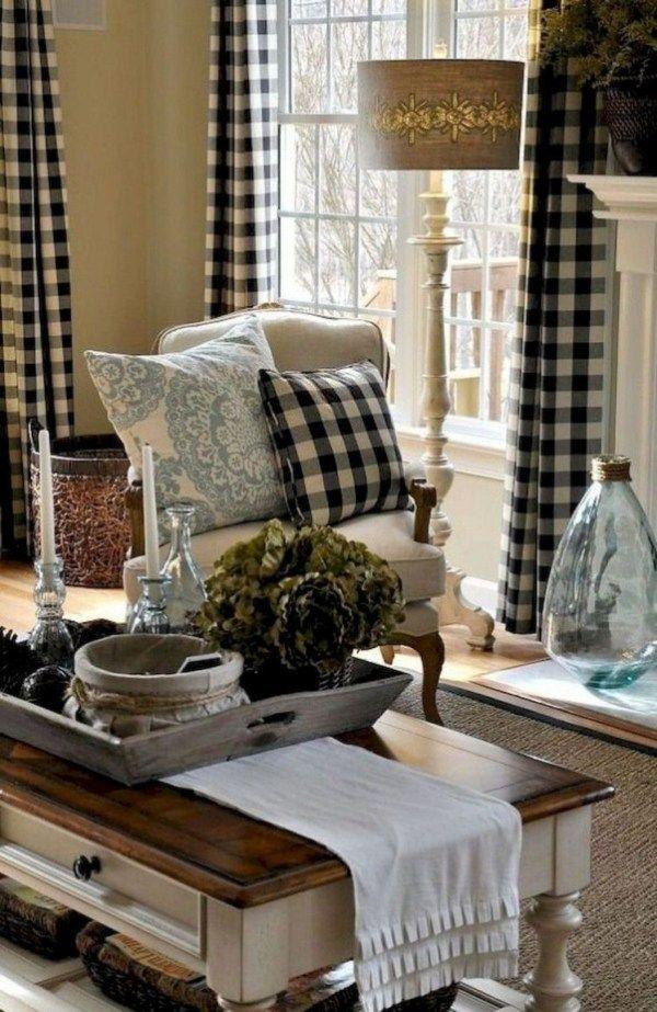 Romantic rustic farmhouse living room decor ideas also farm house rh pinterest