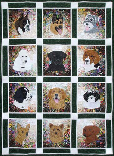 Rachel S Dog Kennel Watercolor Quilt Kit Made These Dogs