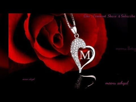 M 💖 Letter WhatsApp Status video   YouTube | Sukhbir | M letter