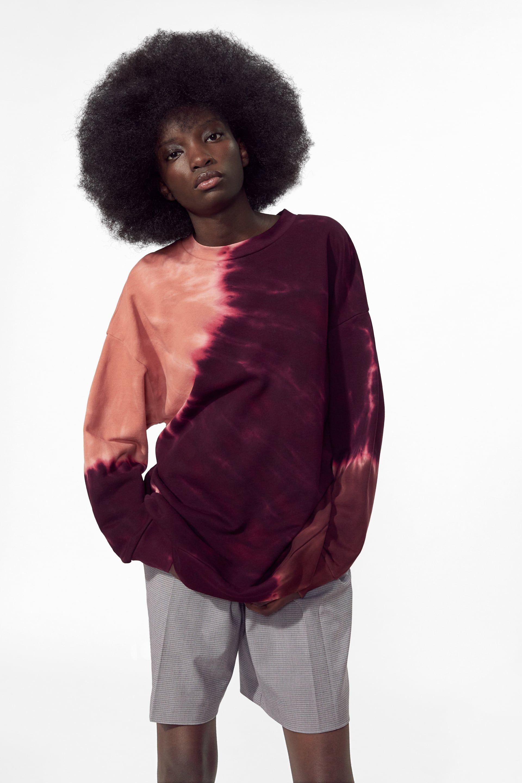 Image 2 Of Tie Dye Sweatshirt From Zara Tie Dye Sweatshirt Tie Dye Shirts Sweatshirts [ 1536 x 1024 Pixel ]