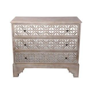 Shop For Privilege Brown 3 Drawer Mirror Accent Chest. Get Free Shipping At  Overstock