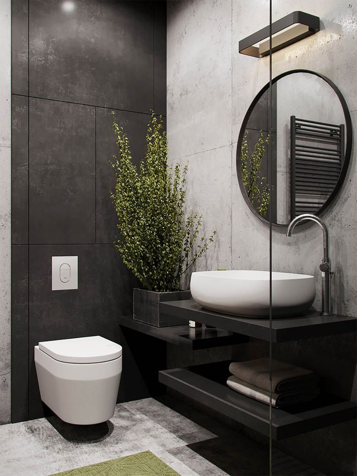 51 Industrial Style Bathrooms Plus Ideas & Accessories You Can Copy From Them #decorationequipment