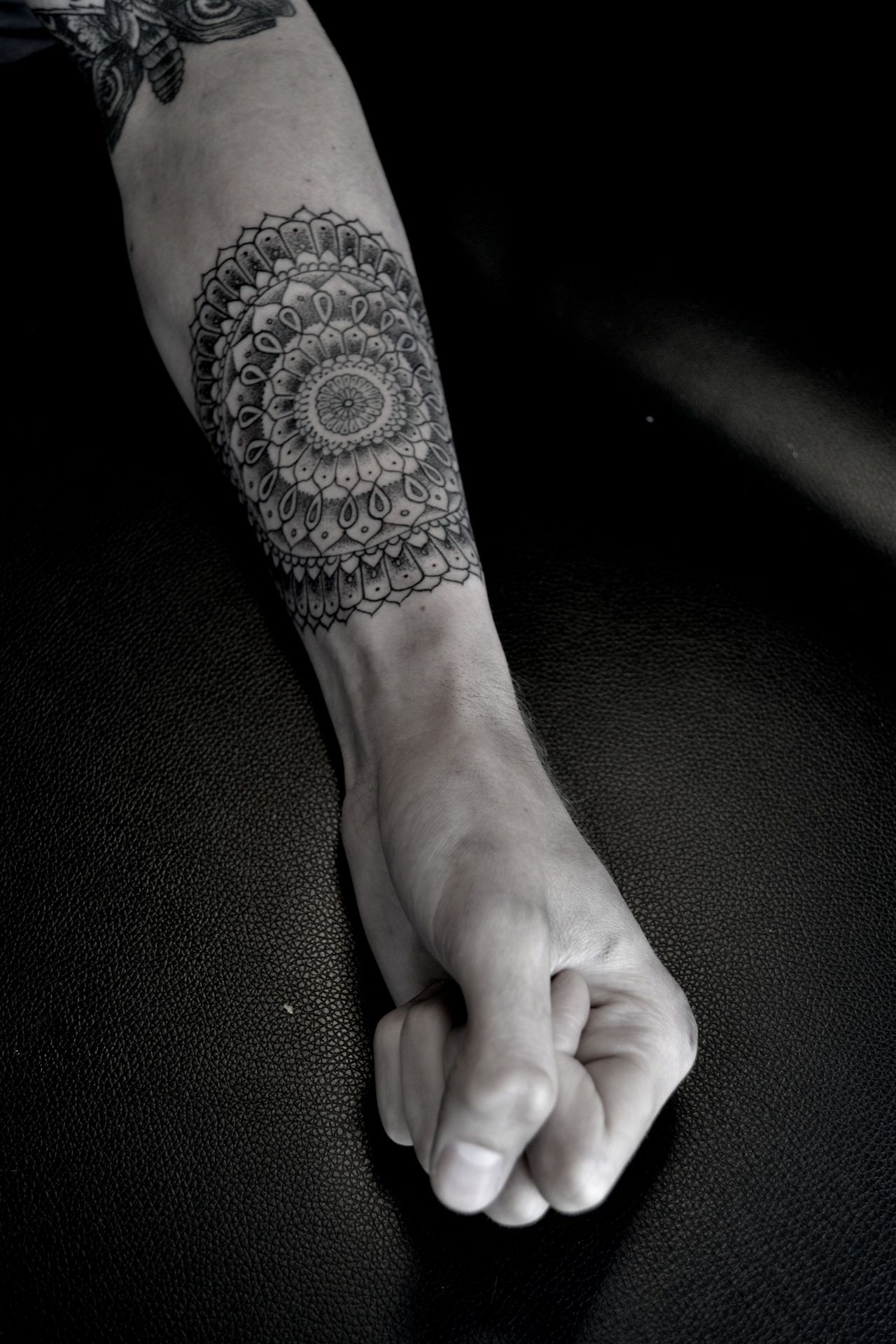 Intricate floral lower arm tattoo; PERFECT location! (With