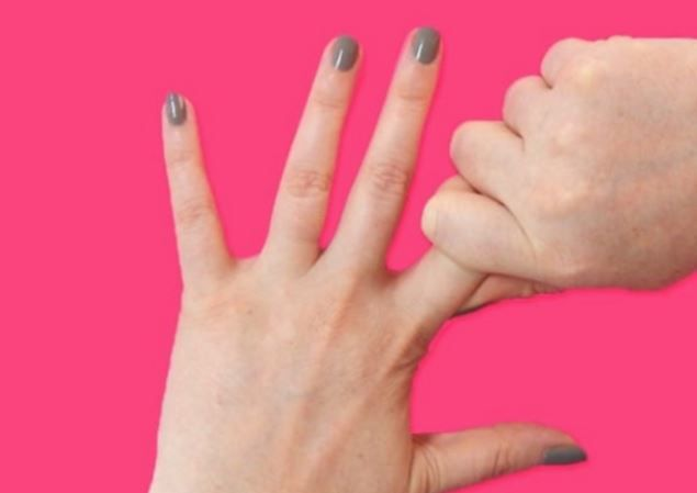 Verbindung Zwischen Unseren Fingern Und Unseren Organen Daumen