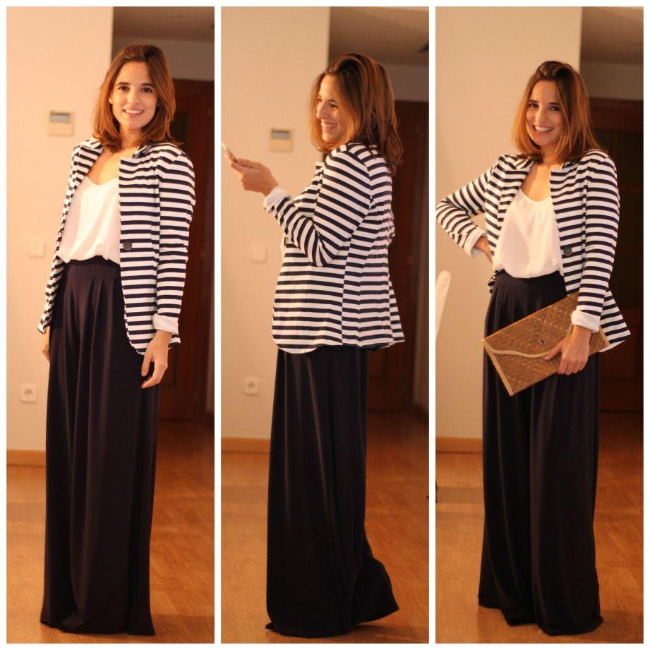 ccc29c2a26e ... Moreno Pilar Pascual del Riquelme pantalones palazzo look comuniones  2015 look graduacion look boda pantalon estilo para chicas tallas grandes  (2)