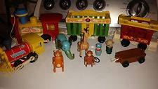 Vintage Fisher Price Little People Circus Train & Zoo Pieces