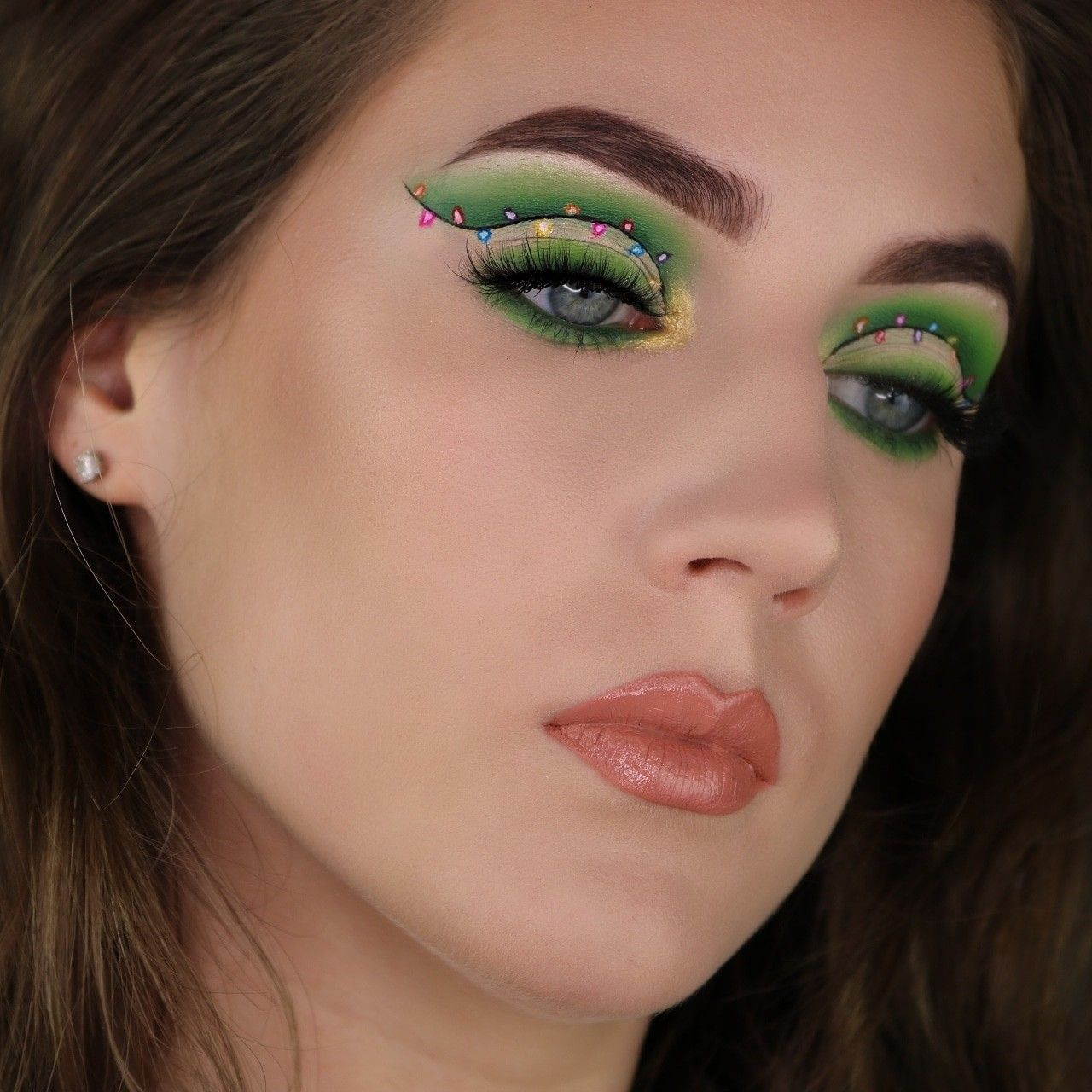 I did this look using the morphe James Charles palette! It