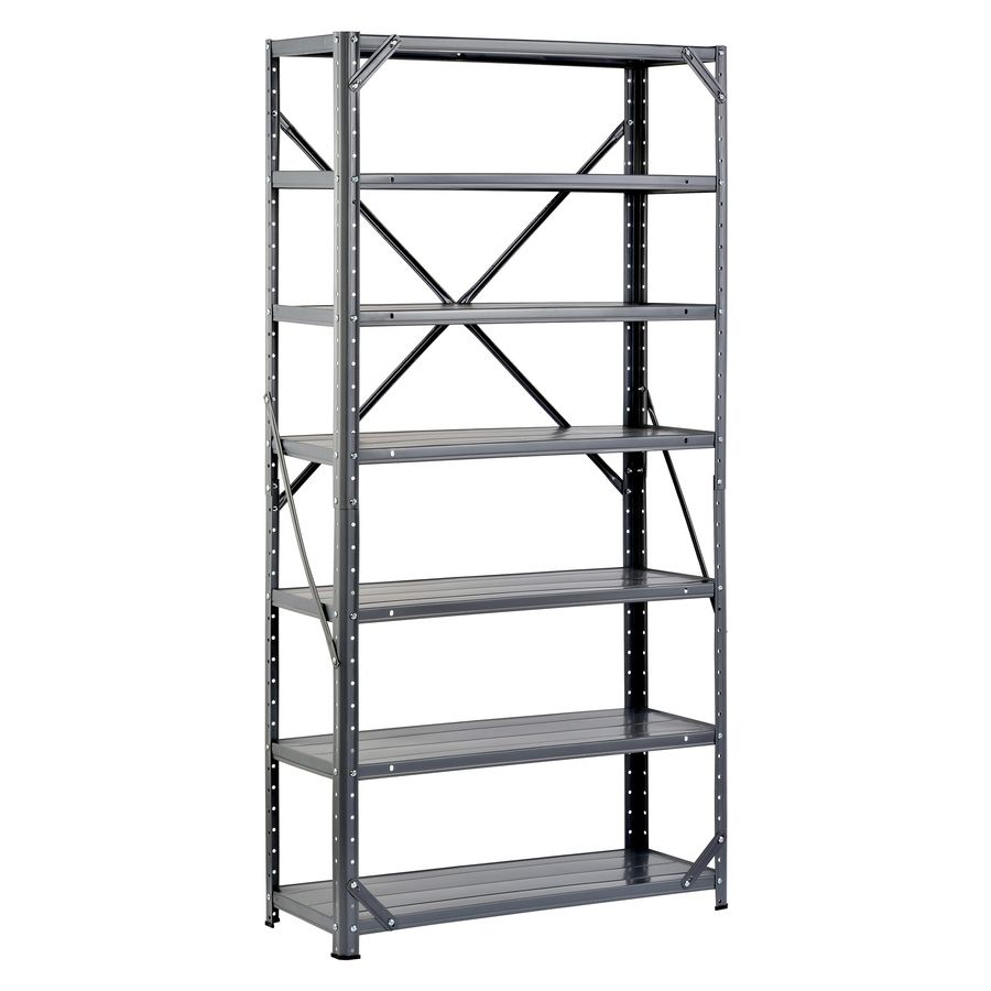 Shop Edsal 60 In H X 30 In W X 12 In D 7 Tier Steel Freestanding