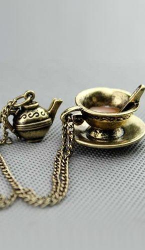Tea Time Necklace $19.99 Gift Idea
