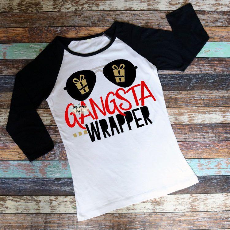 41ee4574e Gangsta Wrapper Unisex Christmas Raglan,Womens Christmas Shirt,Gift  Wrap,Black Friday, Nutcracker Market,Funny Christmas Shirts,Santa by ...