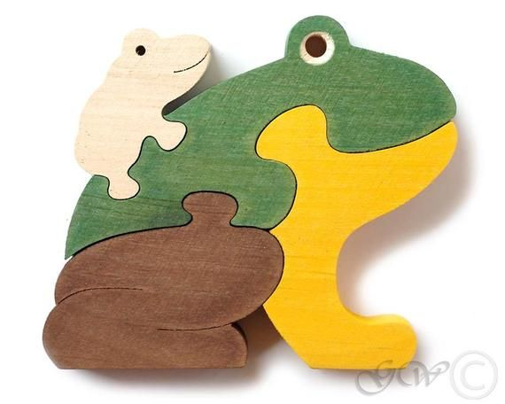 Wooden puzzle frog wooden toy Wooden Animal Puz Wooden puzzle frog wooden toy Wooden Animal Puz