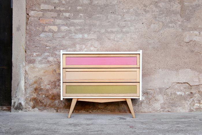 commode vintage relook e bois blanc cru tissus zo pinterest bois blanc relooker et. Black Bedroom Furniture Sets. Home Design Ideas