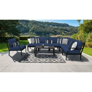 Kathy Ireland Madison Ave 8 Piece Outdoor Aluminum Patio Furniture Set 08d Products In 2019 Patio Furniture Sets Best Outdoor Furniture Ireland Homes