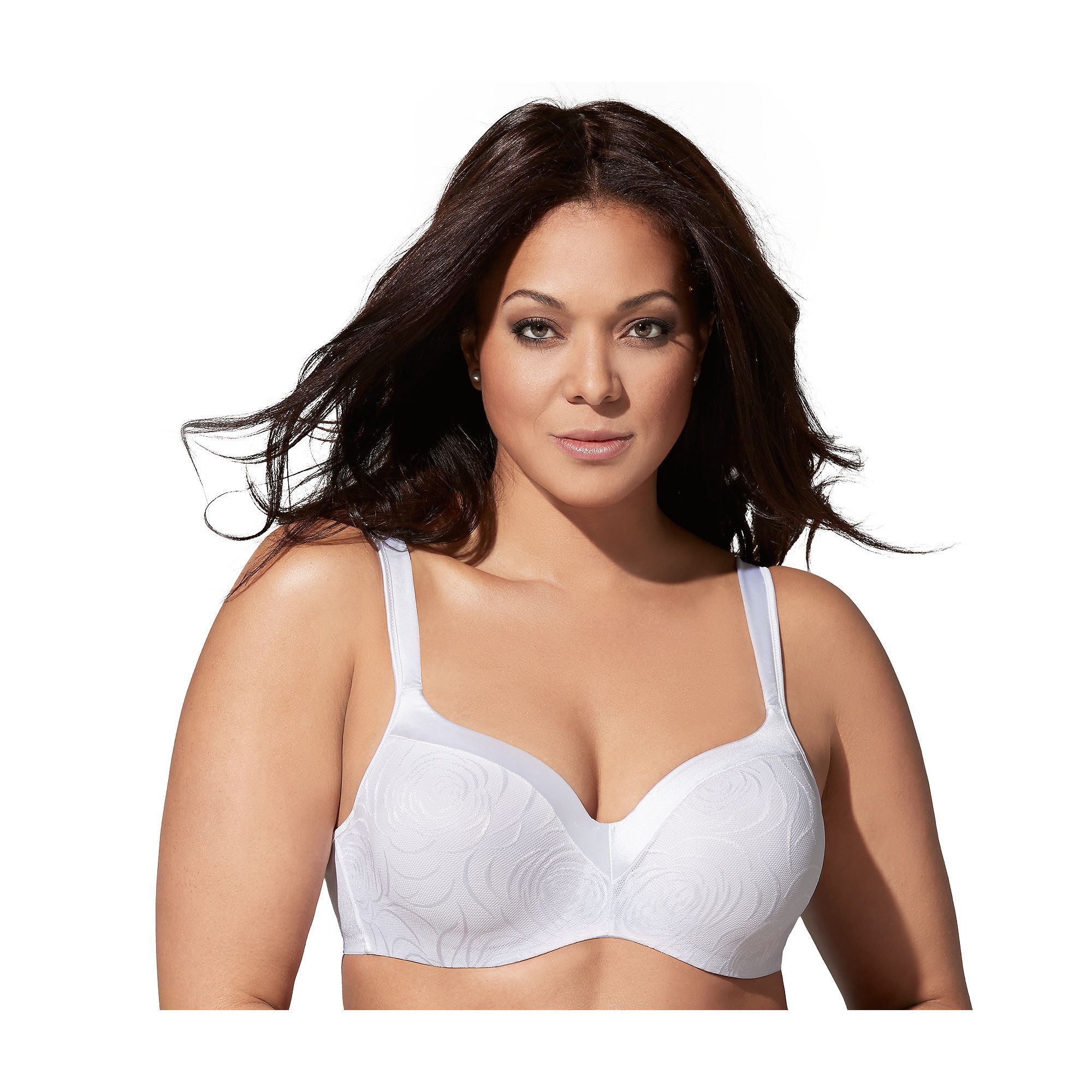 f34eb4c9dc09c Plus Size Playtex Bras  Love My Curves Body Revelation Jacquard Full-Figure  Balconette Bra 4823