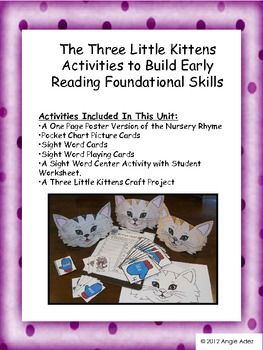 Nursery Rhymes The Three Little Kittens Reading Foundational