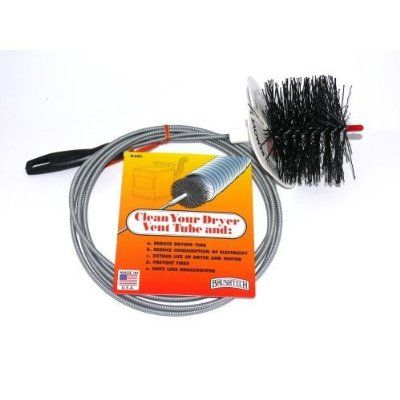 Brushtech B68C 10-Feet Long Dryer Vent Duct Cleaning Brush:Amazon:Home & Kitchen