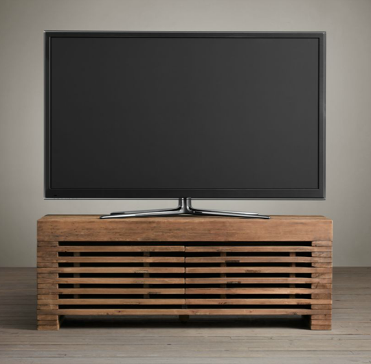 11 of the best media consoles & tv stands | reclaimed timber