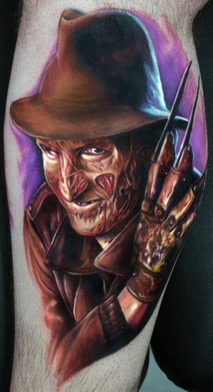 47705abc8 Freddy Krueger tattoo   Tattoo Portraits   Movie tattoos, Paul acker ...