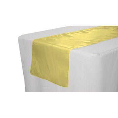 LA Linen Sheer Organza Table Runner Color: Light Yellow
