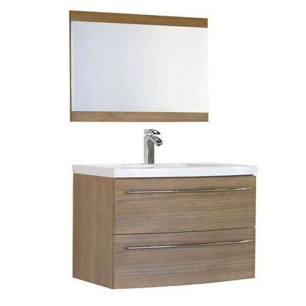 meuble de salle de bain olea en mdf et vasque en résine de ... - Meuble Evier Salle De Bain